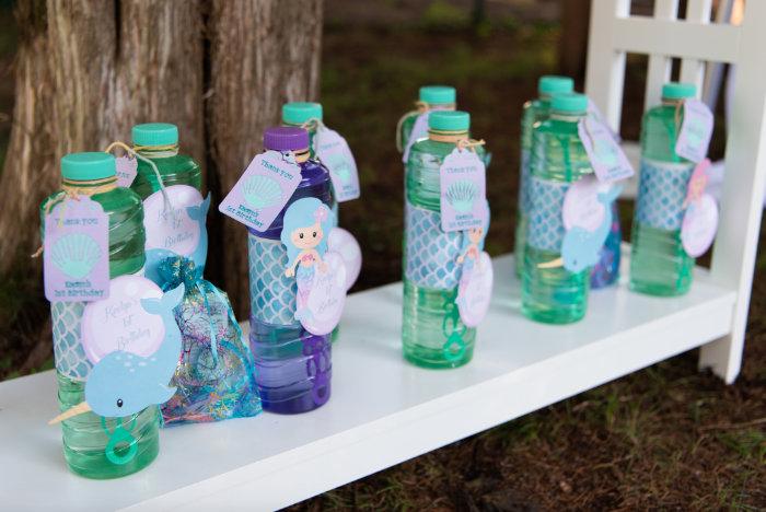 Bubble Favors from a Mermaid Picnic Party on Kara's Party Ideas | KarasPartyIdeas.com (6)
