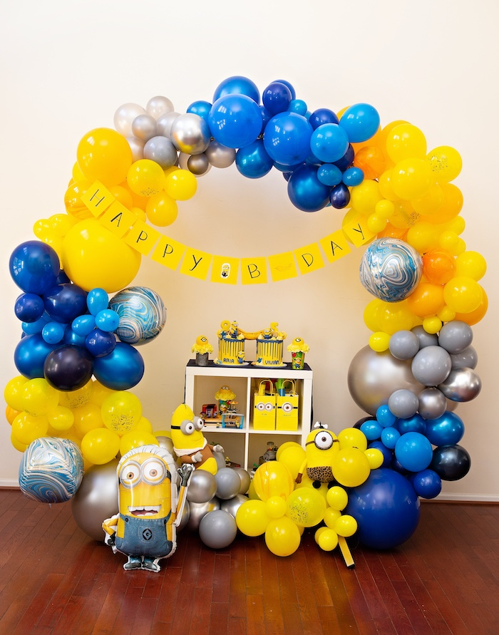 Minion-inspired Dessert Table from a Minions Pandemic-Safe Birthday Party on Kara's Party Ideas | KarasPartyIdeas.com (25)