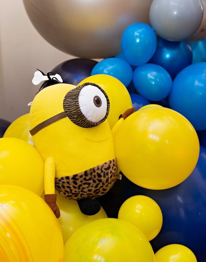 Minion Balloon Install from a Minions Pandemic-Safe Birthday Party on Kara's Party Ideas | KarasPartyIdeas.com (24)
