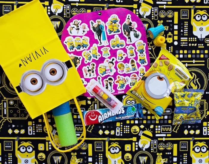 Minion Favor Bag from a Minions Pandemic-Safe Birthday Party on Kara's Party Ideas | KarasPartyIdeas.com (21)
