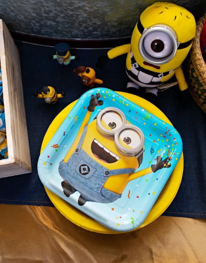Minion Plates from a Minions Pandemic-Safe Birthday Party on Kara's Party Ideas | KarasPartyIdeas.com (19)