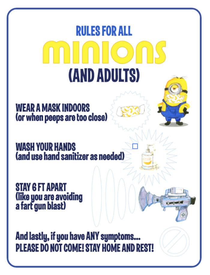 Minion Party Signage from a Minions Pandemic-Safe Birthday Party on Kara's Party Ideas | KarasPartyIdeas.com (34)