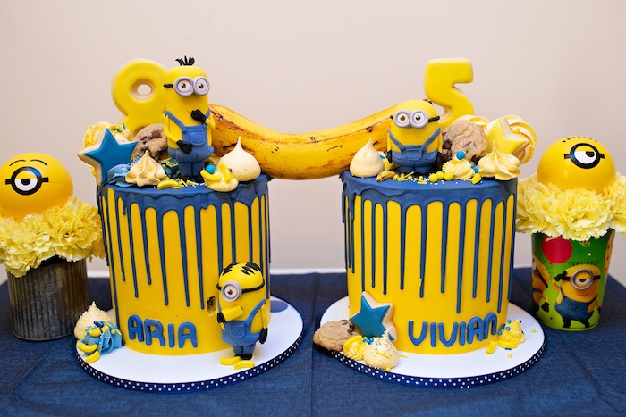 Minion Birthday Cake from a Minions Pandemic-Safe Birthday Party on Kara's Party Ideas | KarasPartyIdeas.com (8)
