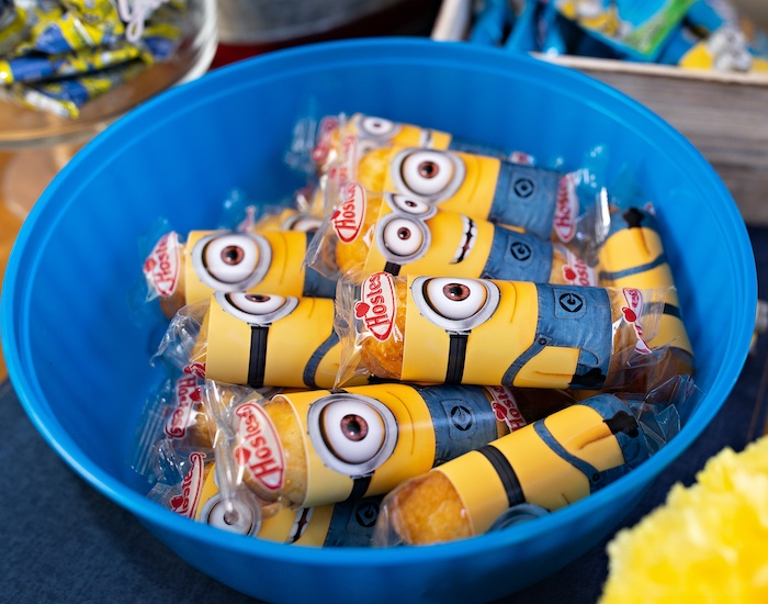 Minion Twinkies from a Minions Pandemic-Safe Birthday Party on Kara's Party Ideas | KarasPartyIdeas.com (7)