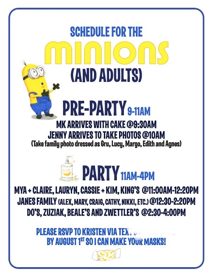 Minion Party Signage from a Minions Pandemic-Safe Birthday Party on Kara's Party Ideas | KarasPartyIdeas.com (33)