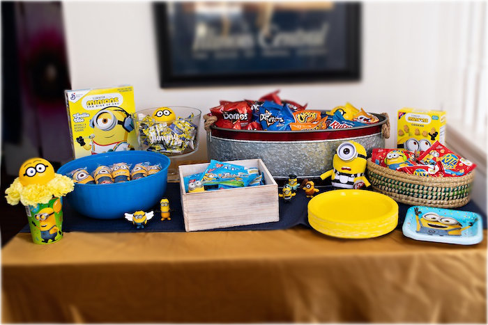 Minion-inspired Snack + Food Table from a Minions Pandemic-Safe Birthday Party on Kara's Party Ideas | KarasPartyIdeas.com (32)
