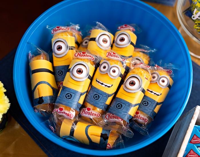 Minion Twinkies from a Minions Pandemic-Safe Birthday Party on Kara's Party Ideas | KarasPartyIdeas.com (31)