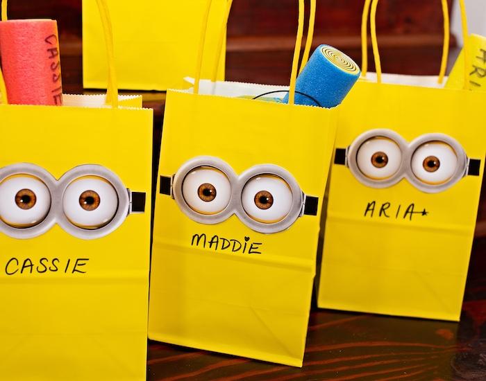 Minion Favor Bags from a Minions Pandemic-Safe Birthday Party on Kara's Party Ideas | KarasPartyIdeas.com (26)