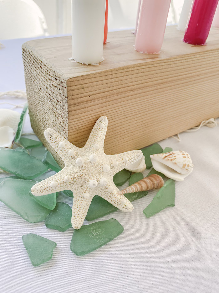 Shells and Sea Glass from a Modern Floral Mermaid Birthday Party on Kara's Party Ideas | KarasPartyIdeas.com (23)