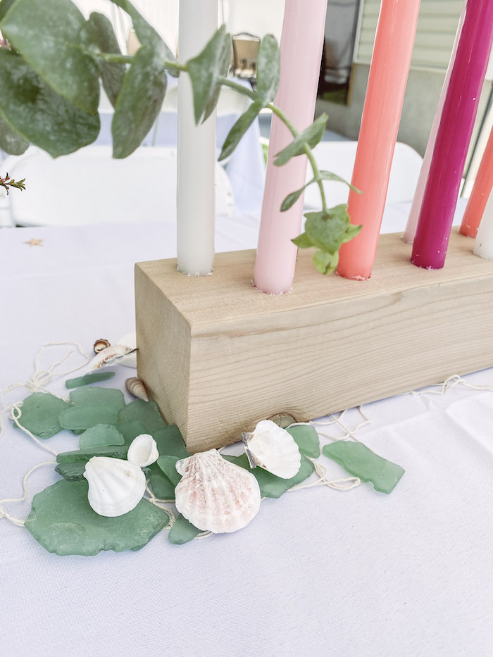 Shells and Sea Glass from a Modern Floral Mermaid Birthday Party on Kara's Party Ideas | KarasPartyIdeas.com (19)