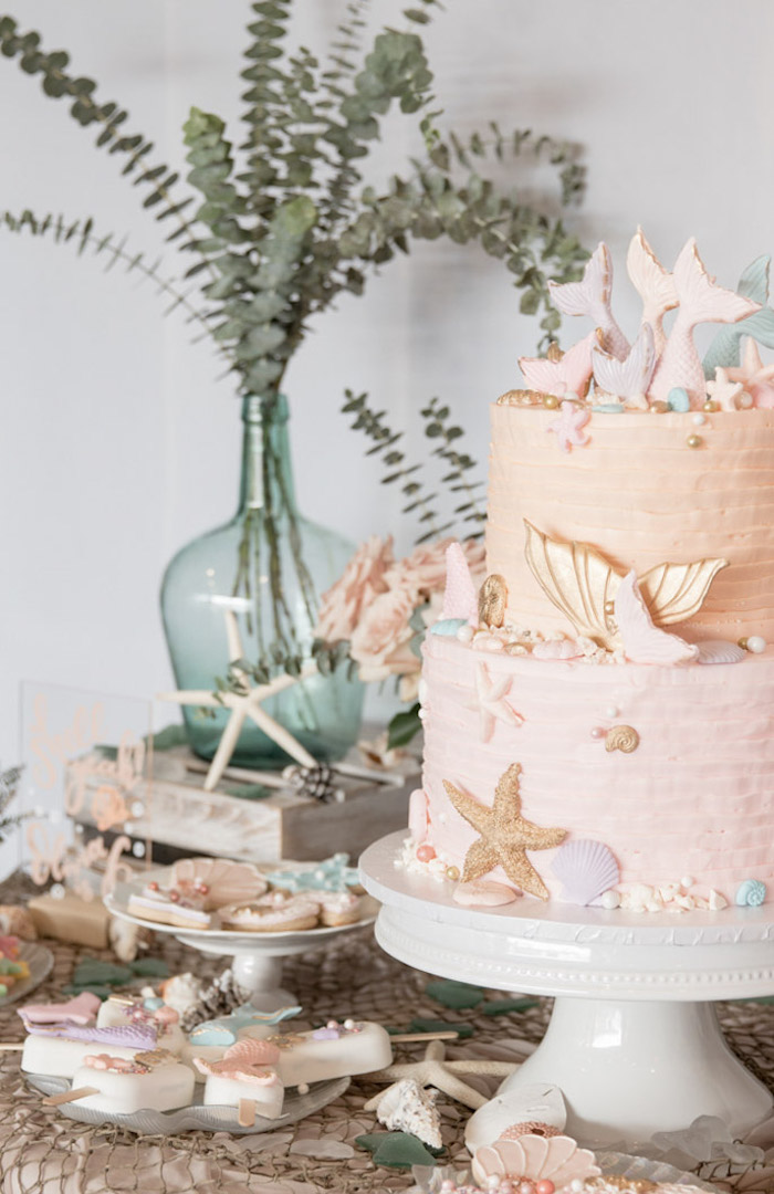 Modern Floral Mermaid Birthday Party on Kara's Party Ideas | KarasPartyIdeas.com (33)