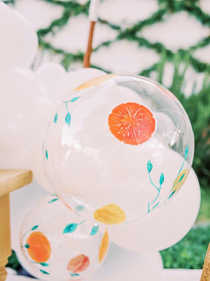 Citrus Fruit Balloon from a Mommy & Me Citrus Brunch on Kara's Party Ideas | KarasPartyIdeas.com (19)