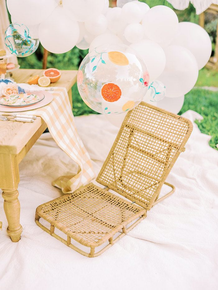 Low-seated Chair from a Mommy & Me Citrus Brunch on Kara's Party Ideas | KarasPartyIdeas.com (15)