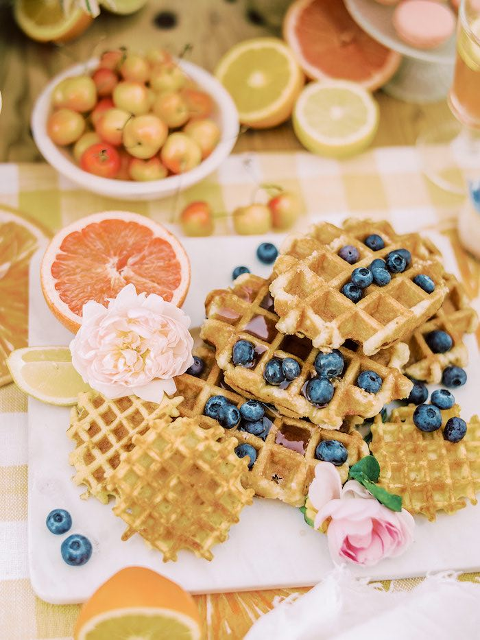 Waffles from a Mommy & Me Citrus Brunch on Kara's Party Ideas | KarasPartyIdeas.com (10)