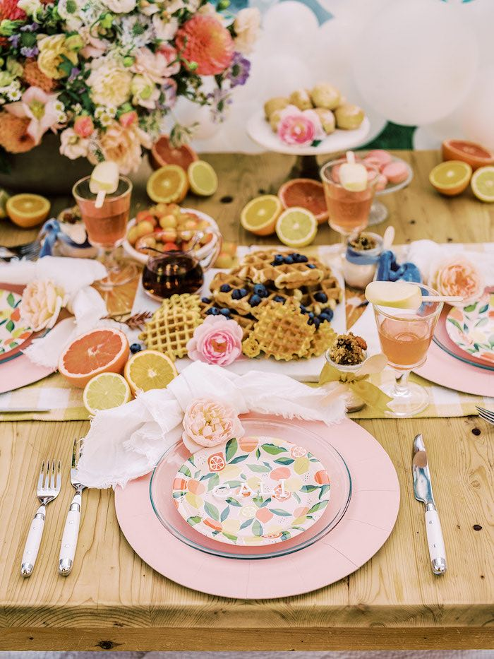 Citrus Fruit-inspired Table Setting from a Mommy & Me Citrus Brunch on Kara's Party Ideas | KarasPartyIdeas.com (26)