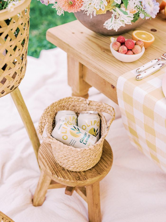 Basket of Drinks from a Mommy & Me Citrus Brunch on Kara's Party Ideas | KarasPartyIdeas.com (25)