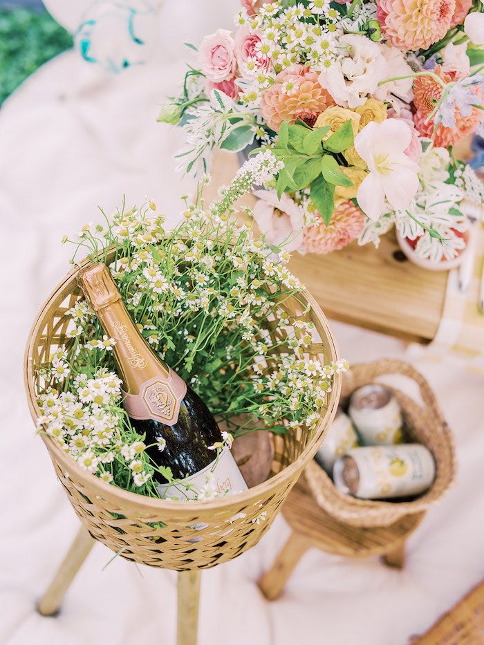 Bloom Drink Basket from a Mommy & Me Citrus Brunch on Kara's Party Ideas | KarasPartyIdeas.com (23)