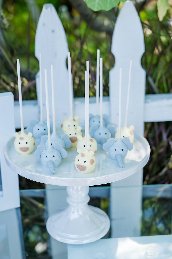 Wild Animal Cake Pops from a Noah's Ark Birthday Drive-by Parade on Kara's Party Ideas | KarasPartyIdeas.com (22)