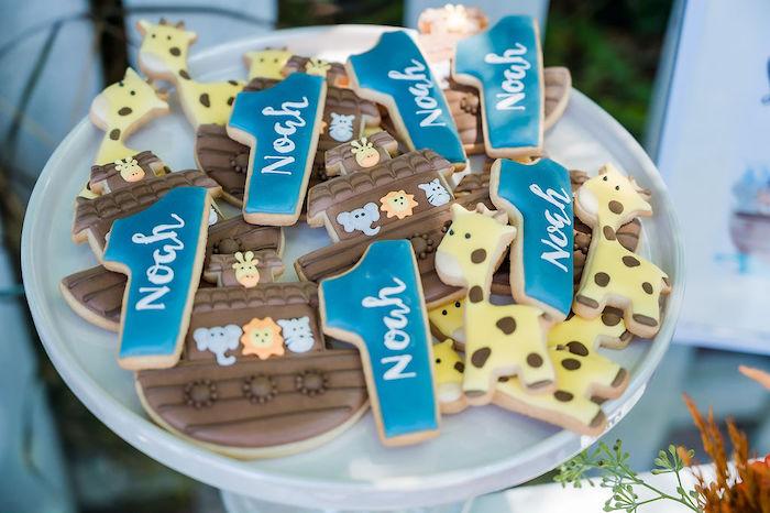 Noah's Ark Cookies from a Noah's Ark Birthday Drive-by Parade on Kara's Party Ideas | KarasPartyIdeas.com (19)