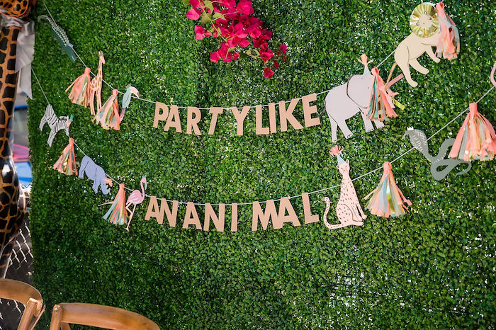 Party Like An Animal Banner + Backdrop from a Noah's Ark Birthday Drive-by Parade on Kara's Party Ideas | KarasPartyIdeas.com (11)