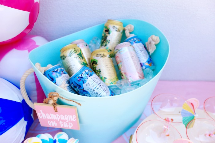 Beverage Bucket from a Palm Springs Beach Ball Birthday Bash on Kara's Party Ideas | KarasPartyIdeas.com (13)