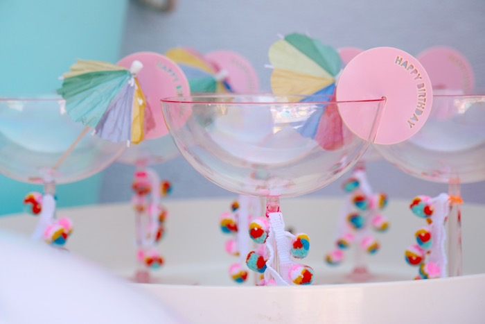 Margarita Cups from a Palm Springs Beach Ball Birthday Bash on Kara's Party Ideas | KarasPartyIdeas.com (35)