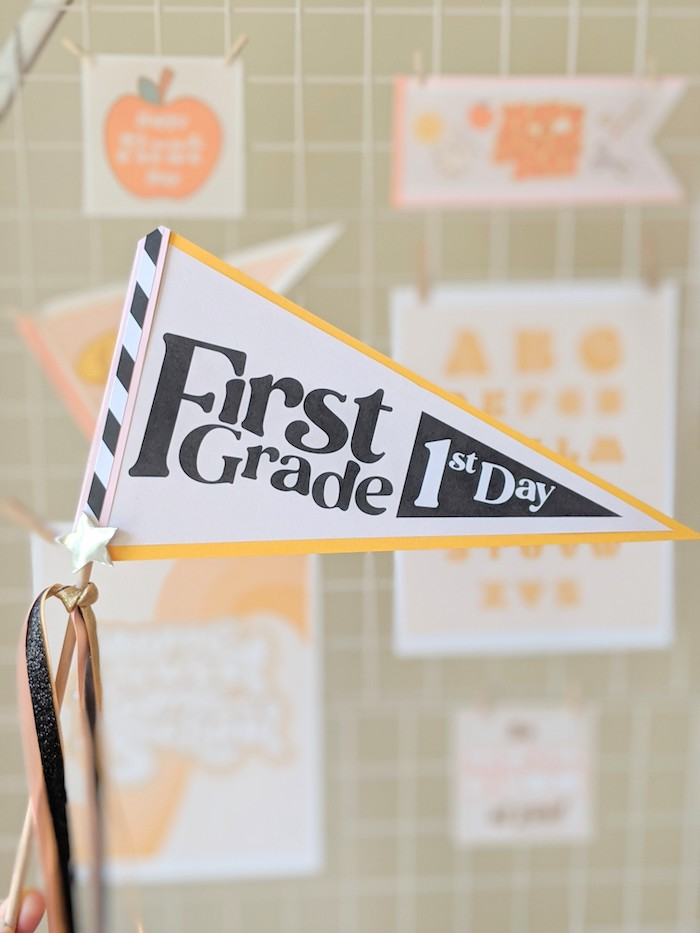 Back to School Pennant Flag from a Pastel Back to School Party on Kara's Party Ideas | KarasPartyIdeas.com (11)
