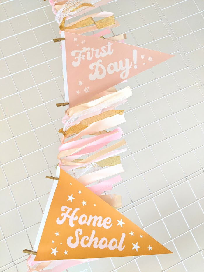 Back to School Banner from a Pastel Back to School Party on Kara's Party Ideas | KarasPartyIdeas.com (10)