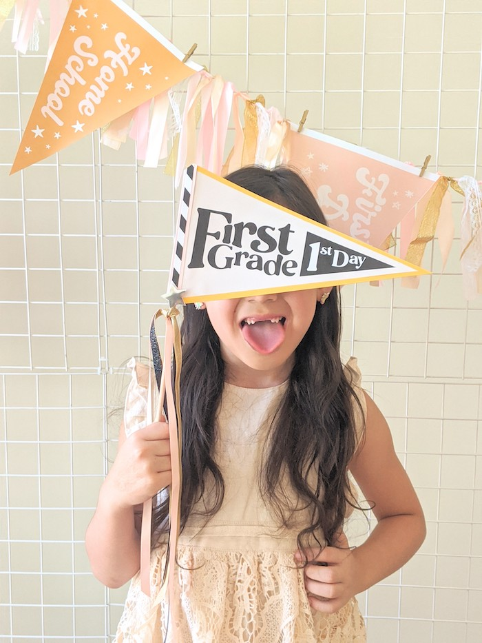 Back to School Pennant Flag from a Pastel Back to School Party on Kara's Party Ideas | KarasPartyIdeas.com (21)