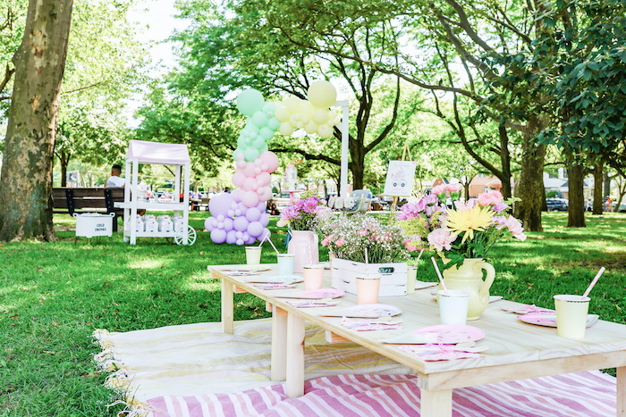 Ice Cream Themed Party Table from a Pastel Ice Cream Picnic Party on Kara's Party Ideas | KarasPartyIdeas.com (21)