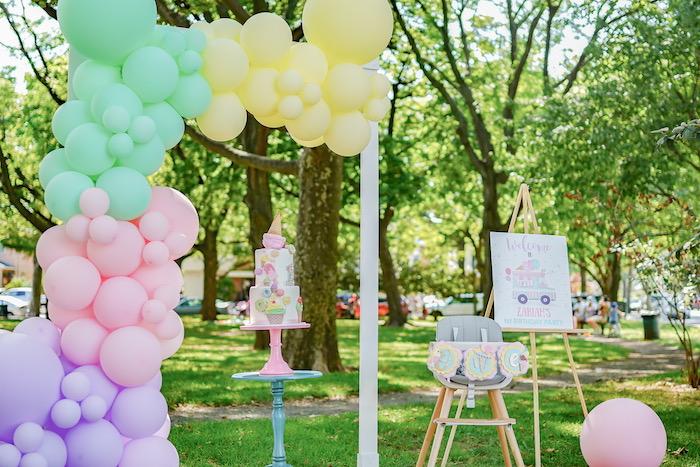 Pastel Ice Cream Picnic Party on Kara's Party Ideas | KarasPartyIdeas.com (15)