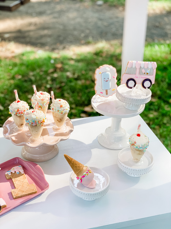 Ice Cream Themed Desserts from a Pastel Ice Cream Picnic Party on Kara's Party Ideas | KarasPartyIdeas.com (8)