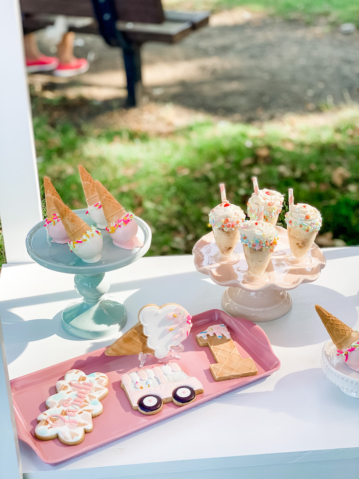 Ice Cream Themed Desserts from a Pastel Ice Cream Picnic Party on Kara's Party Ideas | KarasPartyIdeas.com (7)