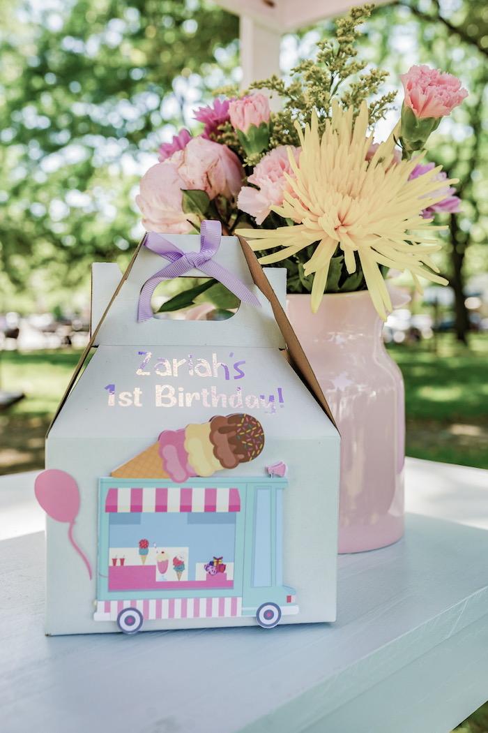 Ice Cream Themed Gable Favor Box from a Pastel Ice Cream Picnic Party on Kara's Party Ideas | KarasPartyIdeas.com (29)