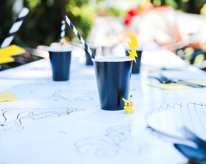 Lightning Cup from a Pokemon 5th Birthday Party on Kara's Party Ideas | KarasPartyIdeas.com (9)