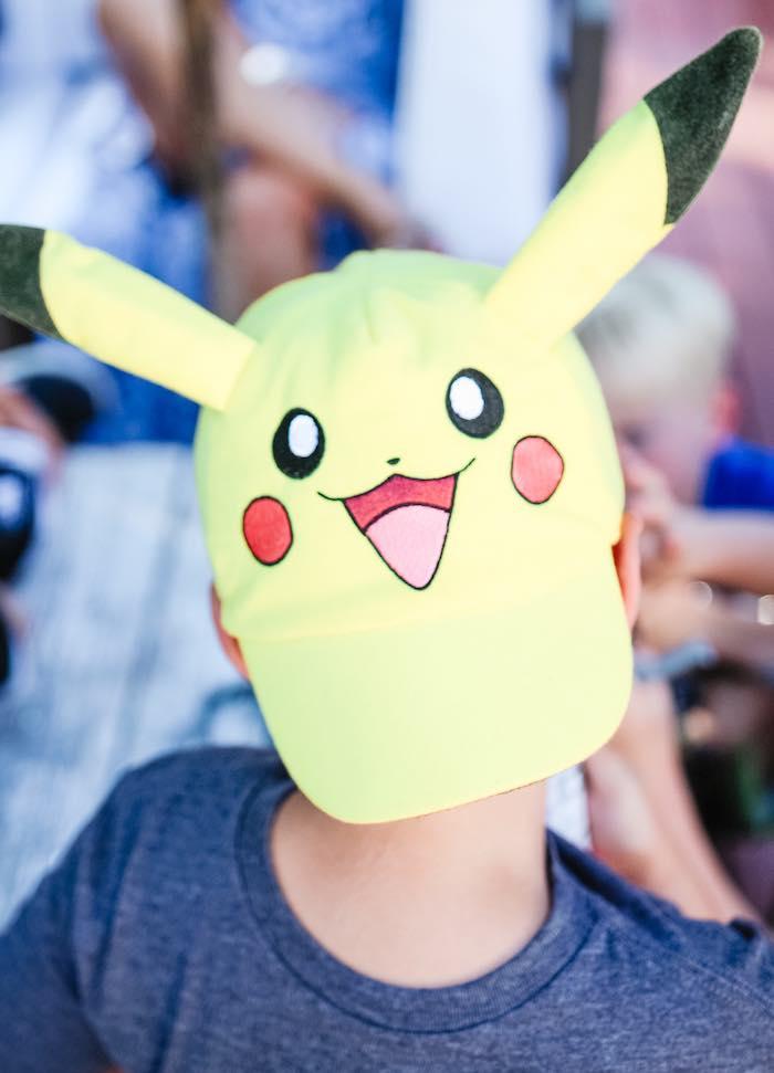 Pokemon Hat from a Pokemon 5th Birthday Party on Kara's Party Ideas | KarasPartyIdeas.com (6)