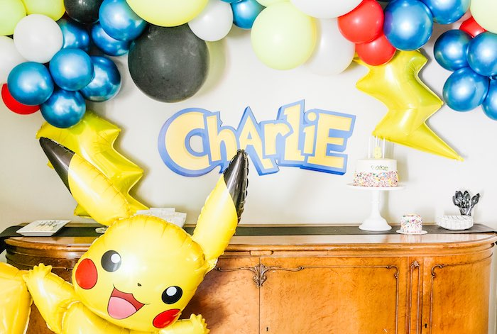 Pokemon Party Table from a Pokemon 5th Birthday Party on Kara's Party Ideas | KarasPartyIdeas.com (11)