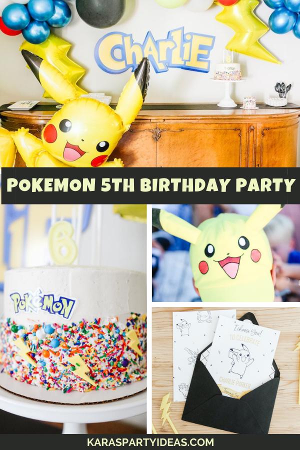 Pokemon 5th Birthday Party via Kara's Party Ideas - KarasPartyIdeas.com