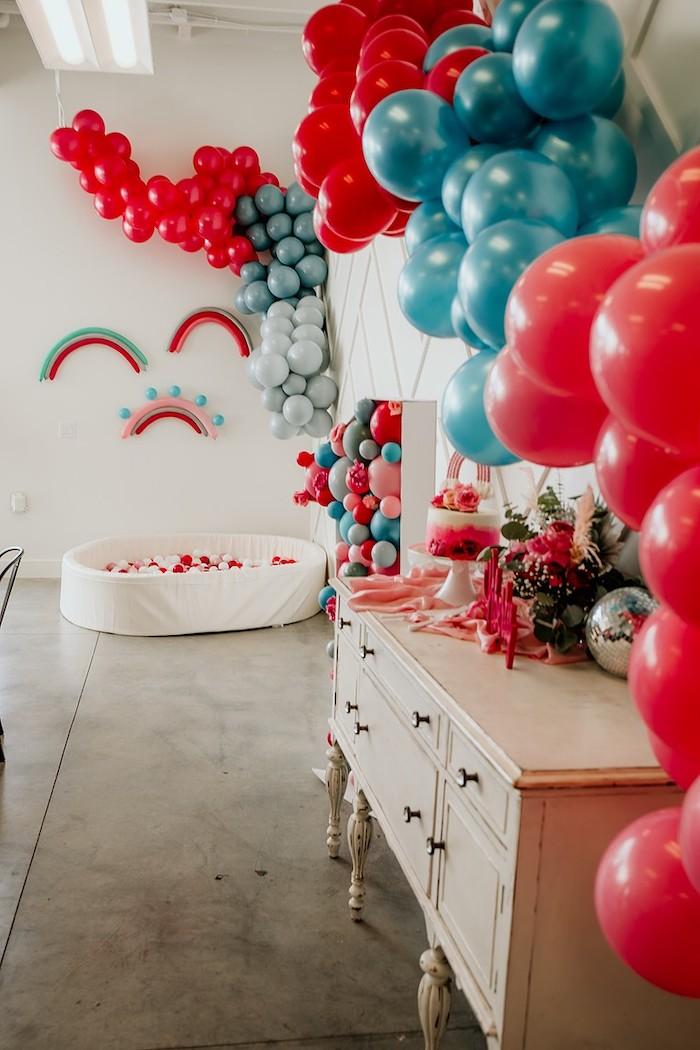 Rainbow First Birthday Party on Kara's Party Ideas | KarasPartyIdeas.com (35)