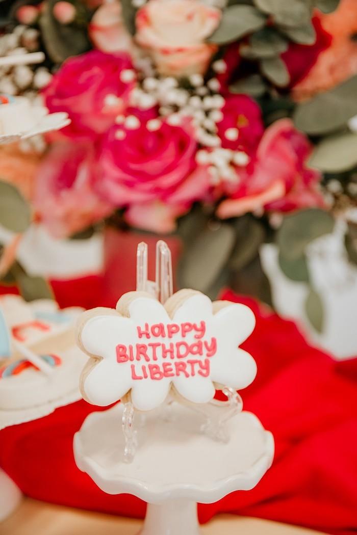 Custom Cloud Cookie from a Rainbow First Birthday Party on Kara's Party Ideas | KarasPartyIdeas.com (24)