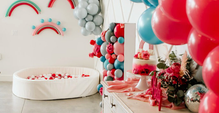 Rainbow First Birthday Party on Kara's Party Ideas | KarasPartyIdeas.com (4)