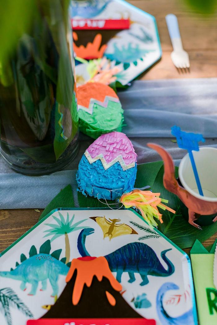 Mini Egg Pinata from a Rawrsome Dinosaur Drive-By Birthday Parade on Kara's Party Ideas | KarasPartyIdeas.com (40)