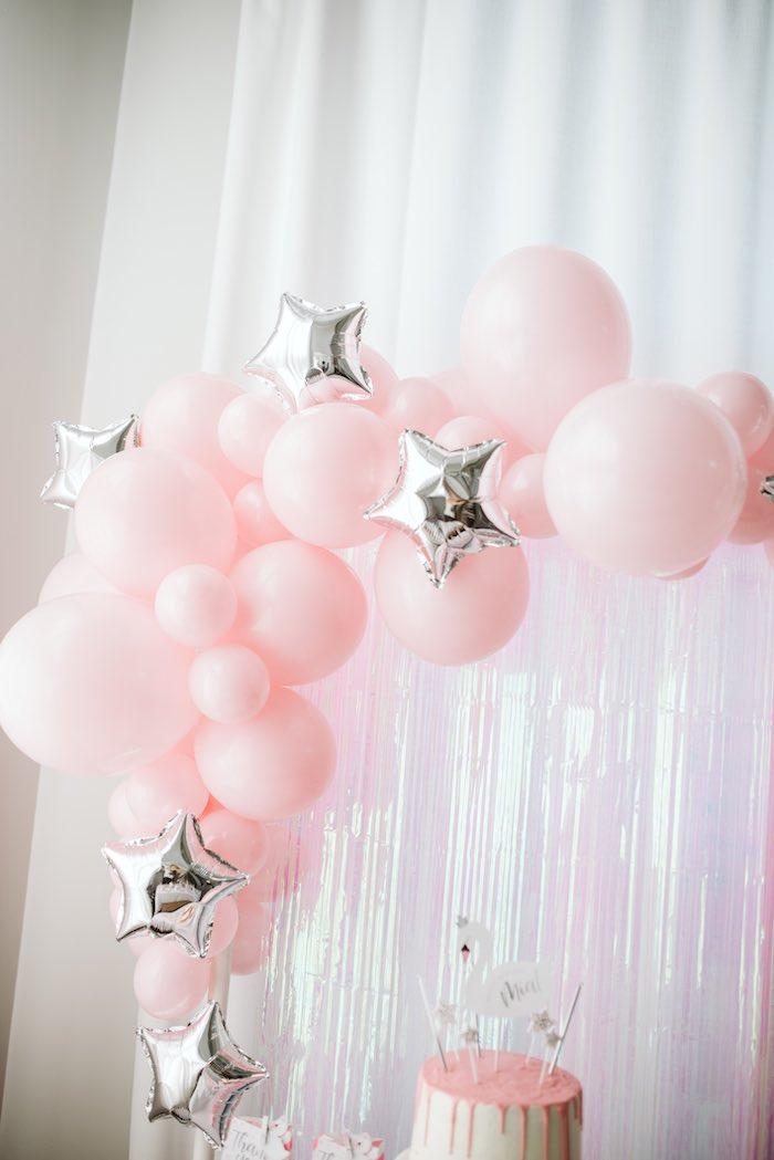 Star Balloon Garland from a Swan Lake Ballet Tea Party on Kara's Party Ideas | KarasPartyIdeas.com (25)