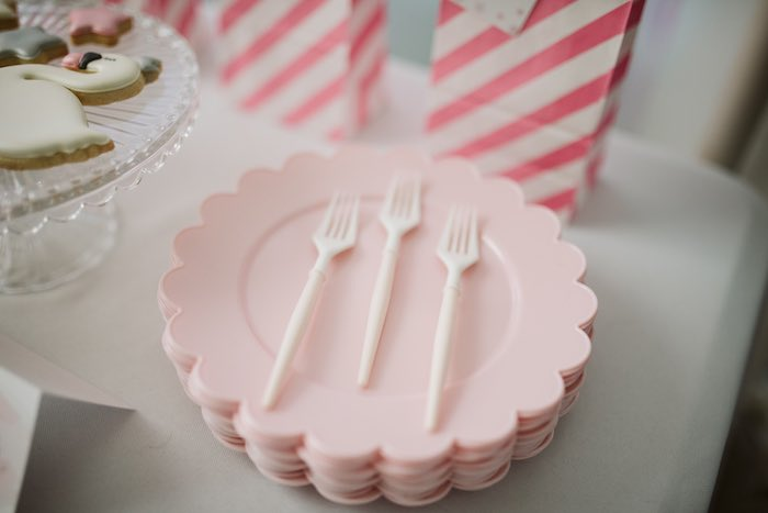 Pink Scalloped Plates from a Swan Lake Ballet Tea Party on Kara's Party Ideas | KarasPartyIdeas.com (22)