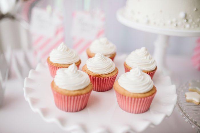 Cupcakes from a Swan Lake Ballet Tea Party on Kara's Party Ideas | KarasPartyIdeas.com (15)