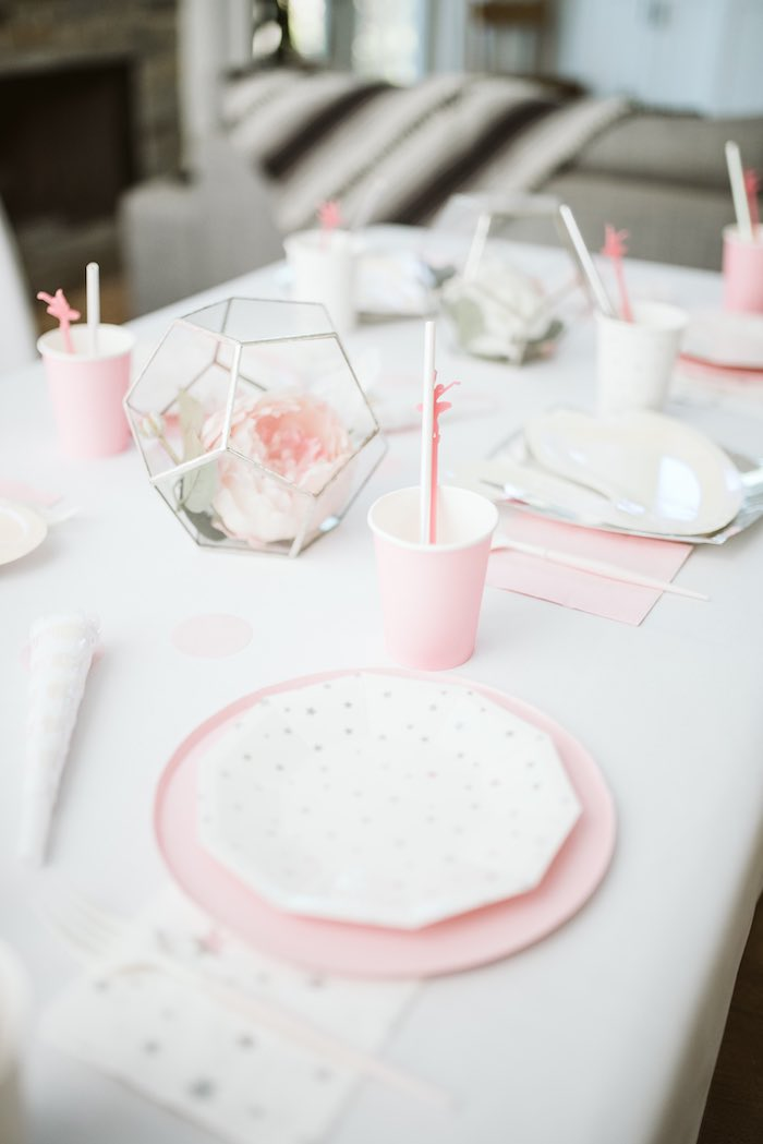 Modern Pink + White Table Setting from a Swan Lake Ballet Tea Party on Kara's Party Ideas | KarasPartyIdeas.com (33)