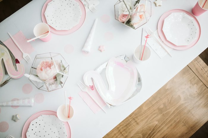 Swan-inspired Guest Table from a Swan Lake Ballet Tea Party on Kara's Party Ideas | KarasPartyIdeas.com (30)