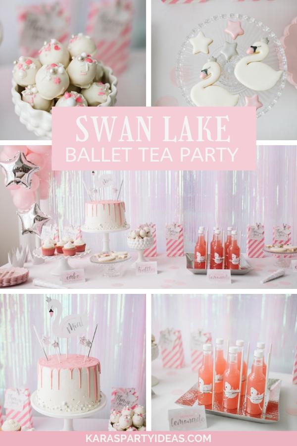 Swan Lake Ballet Tea Party via Kara's Party Ideas - KarasPartyIdeas.com