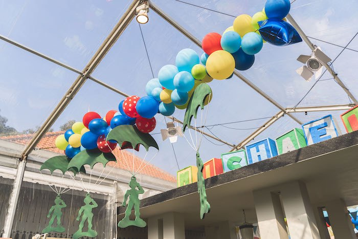 Toy Soldier Balloon Garland from a Toy Story 1st Birthday Party on Kara's Party Ideas | KarasPartyIdeas.com (26)