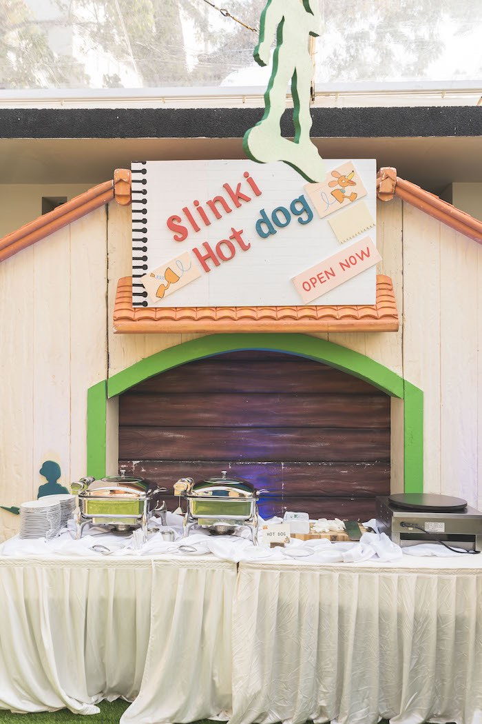 Slinky's Hot Dog Stand from a Toy Story 1st Birthday Party on Kara's Party Ideas | KarasPartyIdeas.com (25)
